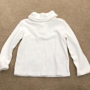 Baby girl white turtle neck shirt